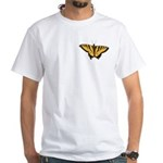 Butterfly Art White T-Shirt Swallowtail T-shirts