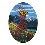 Butterfly Ornament Landscape Painting Keepsake