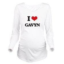 I Love Gavyn Long Sleeve Maternity T-Shirt