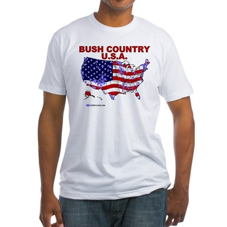 Bush Country USA (County) Fitted T-Shirt