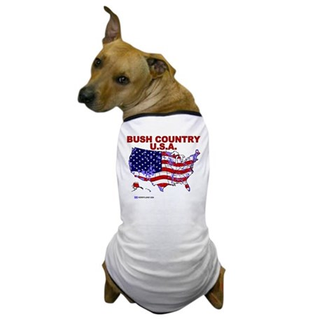 Bush Country USA (County) Dog T-Shirt