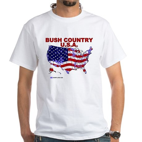 Bush Country USA (County) White T-Shirt