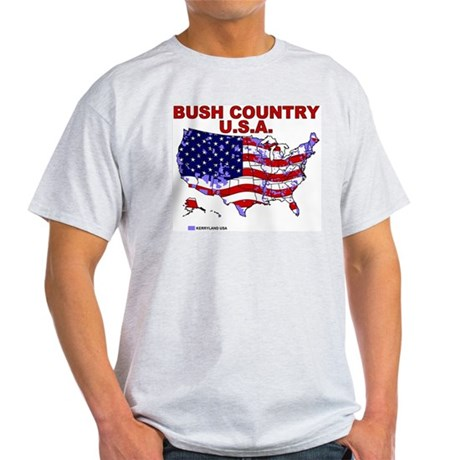 Bush Country USA (County) Ash Grey T-Shirt