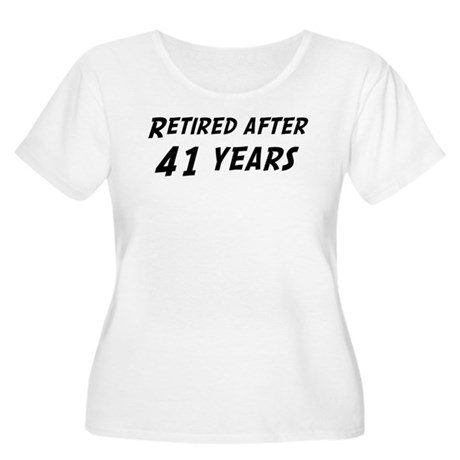 Retired after 41 years Women's Plus Size Scoop Nec