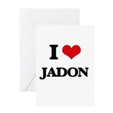 I Love Jadon Greeting Cards