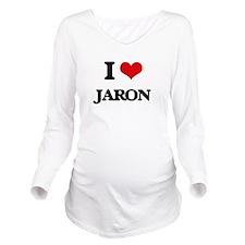 I Love Jaron Long Sleeve Maternity T-Shirt