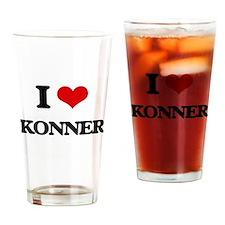 I Love Konner Drinking Glass