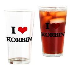 I Love Korbin Drinking Glass