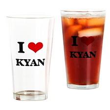 I Love Kyan Drinking Glass