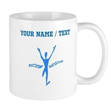 Custom Blue First Place Finish Mugs
