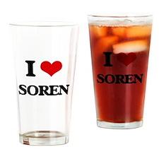 I Love Soren Drinking Glass