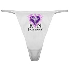Personalized RN Crest Classic Thong