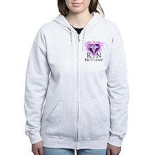 Personalized RN Crest Zip Hoodie