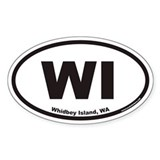 Whidbey Island WI Euro Oval Decal