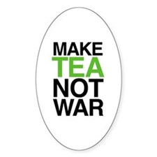 Make Tea Not War Oval Decal