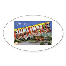Burlington North Carolina Oval Decal