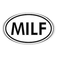 MILF Car Oval Stickers