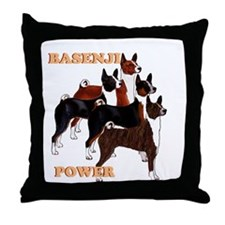 Basenji power Throw Pillow