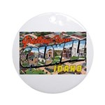 Caldwell Idaho Greetings Ornament (Round)