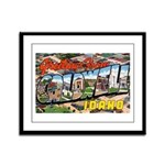 Caldwell Idaho Greetings Framed Panel Print