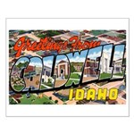 Caldwell Idaho Greetings Small Poster
