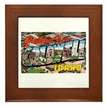 Caldwell Idaho Greetings Framed Tile