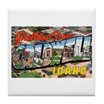 Caldwell Idaho Greetings Tile Coaster
