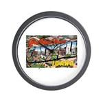 Caldwell Idaho Greetings Wall Clock