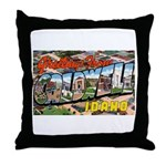 Caldwell Idaho Greetings Throw Pillow