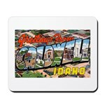 Caldwell Idaho Greetings Mousepad