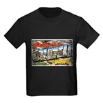 Caldwell Idaho Greetings (Front) Kids Dark T-Shirt