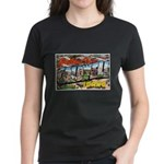 Caldwell Idaho Greetings (Front) Women's Dark T-Sh