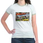 Caldwell Idaho Greetings Jr. Ringer T-Shirt