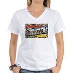 Caldwell Idaho Greetings (Front) Women's V-Neck T-