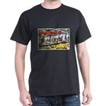 Caldwell Idaho Greetings (Front) Dark T-Shirt