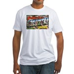 Caldwell Idaho Greetings Fitted T-Shirt