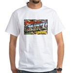 Caldwell Idaho Greetings (Front) White T-Shirt