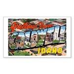 Caldwell Idaho Greetings Rectangle Sticker