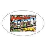 Caldwell Idaho Greetings Oval Sticker