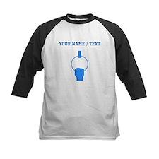 Custom Blue Gymnastics Baseball Jersey