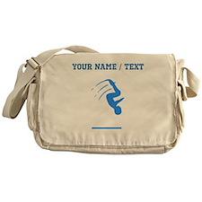 Custom Blue Gymnast Silhouette Messenger Bag