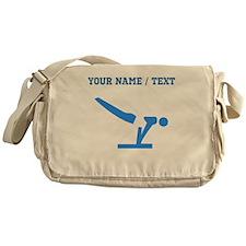 Custom Blue Gymnastics Messenger Bag
