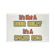 Not A Beer Belly Rectangle Magnet