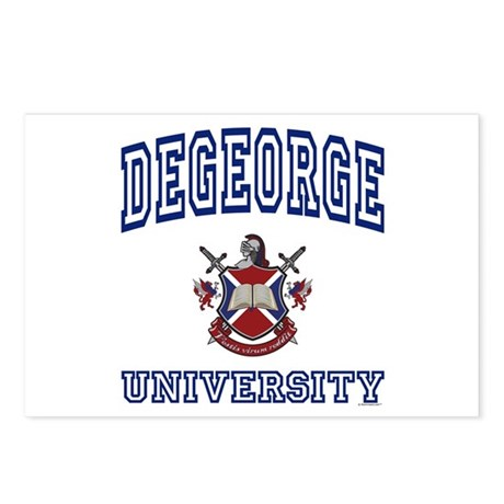 DEGEORGE University Postcards (Package of 8)