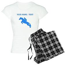 Custom Blue Equestrian Horse Silhouette Pajamas