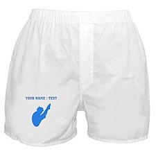 Custom Blue Diver Silhouette Boxer Shorts