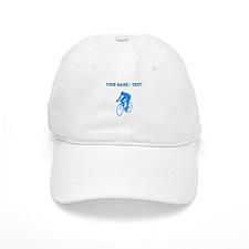 Custom Blue Cyclist Silhouette Baseball Baseball Cap