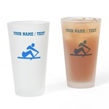 Custom Blue Crew Drinking Glass