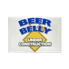 Beer Belly Under Construction Rectangle Magnet