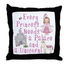 Every Princess Throw Pillow